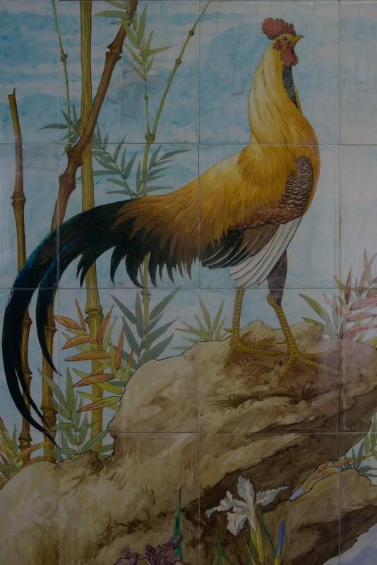 Théodore Deck, carrelage à motif de coq