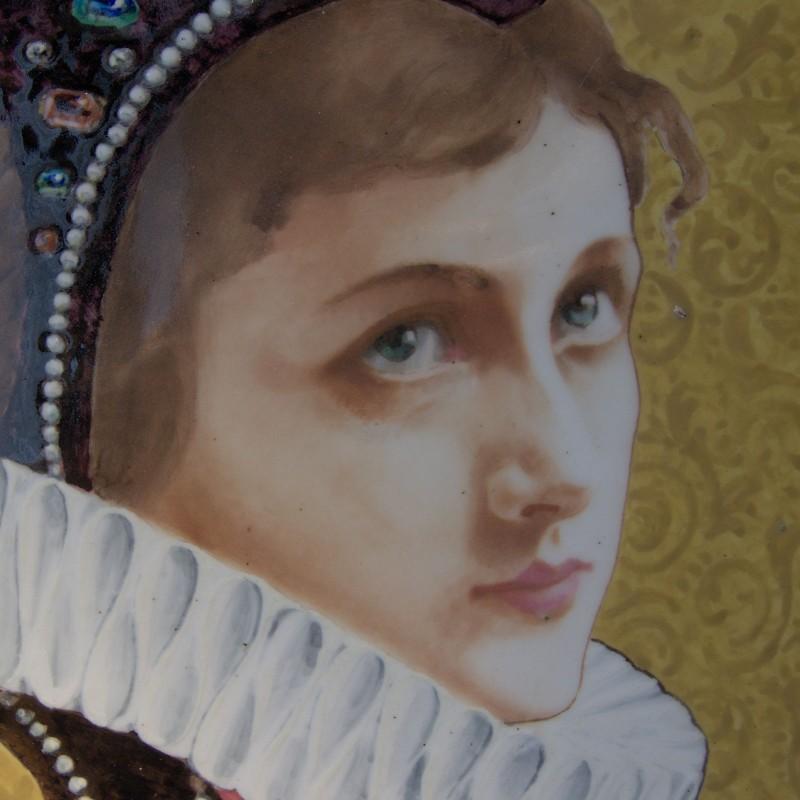 Théodore Deck, portrait sur assiette